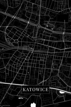 Mapa Katovice black