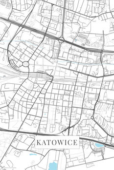Mapa Katowice white