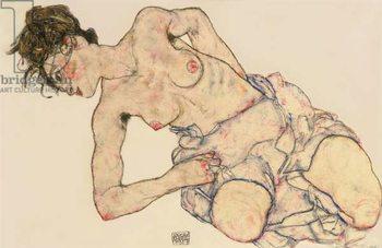 Kneider weiblicher halbakt, 1917 Kunstdruk
