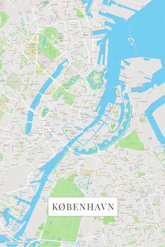 Mapa København color
