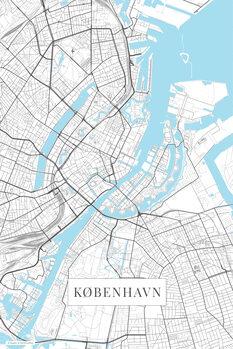 Mapa København white