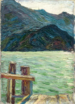 Kochelsee over the bay, 1902 Kunstdruk