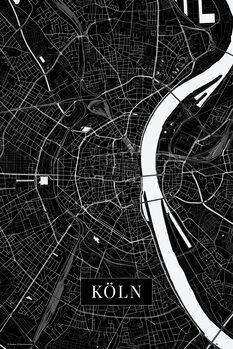 Stadtkarte Köln black