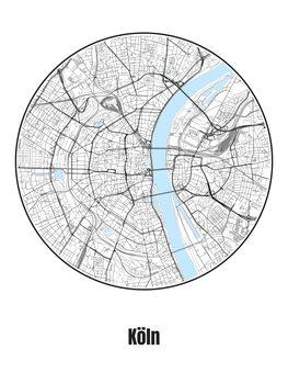 Mapa Köln