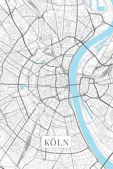 Mapa Kolín nad Rýnem white