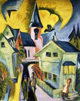 Konigstein with Red Church; Konigstein mit roter Kirche, 1916 Kunstdruck