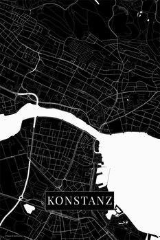 Stadtkarte Konstanz black