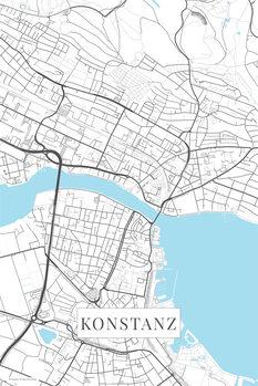 Mapa Konstanz white