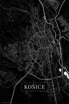 Mapa Košice black