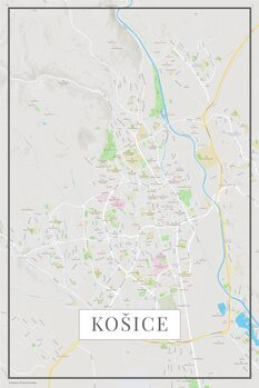 Mapa Košice color