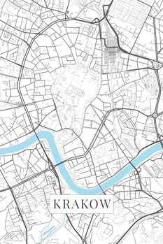 Mapa Krakov white