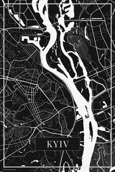 Mapa Kyiv black