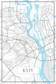 Mapa Kyiv white