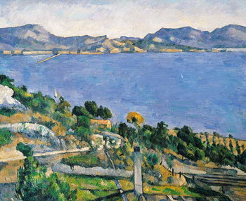 Reproducción de arte L'Estaque, View of the Bay of Marseilles, c.1878-79