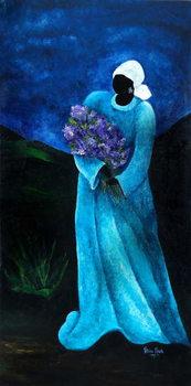 La Dame en Bleu, 2009 Reproduction de Tableau