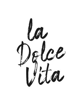 Illustration La dolce vita