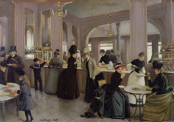 La Patisserie Gloppe, Champs Elysees, Paris, 1889 Kunstdruck
