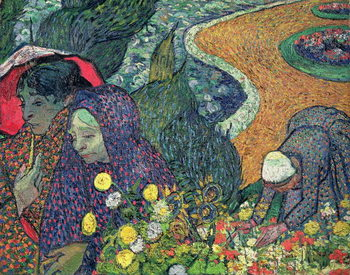 Ladies of Arles (Memories of the Garden at Etten), 1888 Kunstdruk