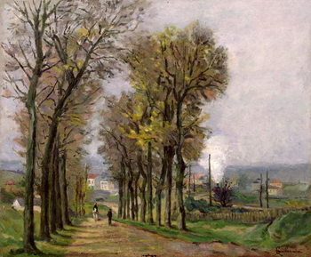 Obrazová reprodukce  Landscape in the Ile de France, c.1878