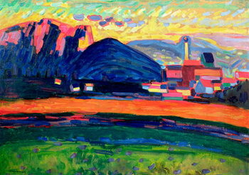 Landscape with Hills, c.1908 Reproduction d'art