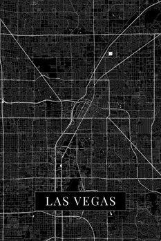 Mapa Las Vegas black