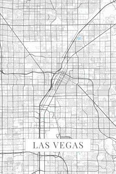 Mapa Las Vegas white