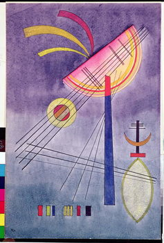 Reprodukcija umjetnosti Leaning Semicircle, 1928