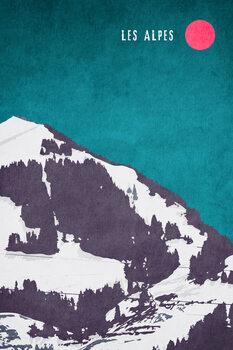 Ilustrace Les Alpes