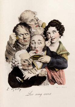 Obrazová reprodukce Les cinq Sens Engraving by Louis-Leopold Boilly