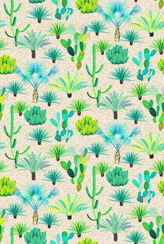 Les Jardins Majorelle - Cacti Kunstdruk