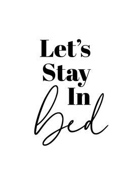 Ilustración Lets stay in bed