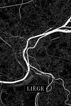 Mapa Liege black