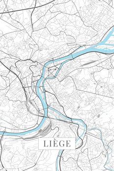 Mapa Liege white