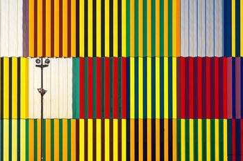 Kunst fotografie light and coloured verticals