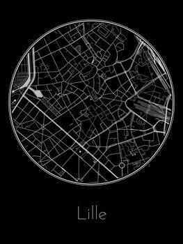 Mapa Lille