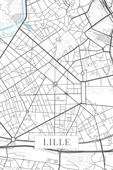 Mapa Lille white