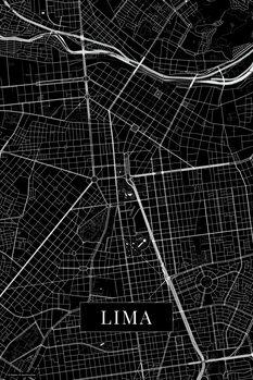 Mapa Lima black