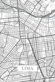 Mapa Lima white