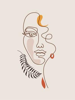 Ilustracja Line Art - Face
