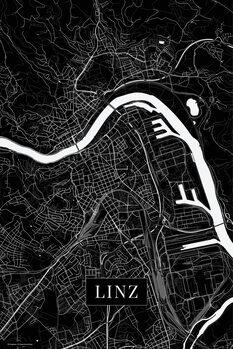 Mapa Linz black