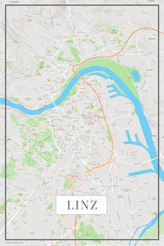 Mapa Linz color