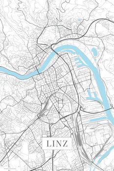 Mapa Linz white