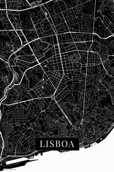 Mapa Lisboa black