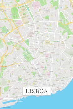 Mapa Lisboa color