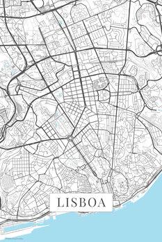 Mapa Lisboa white