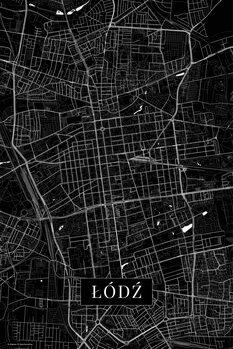 Mapa Lodz black