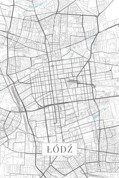 Mapa Lodz white