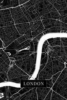 Stadtkarte London black