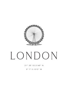 Ilustración London coordinates with London Eye