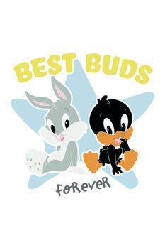 Plakat Looney Tunes - Best buds